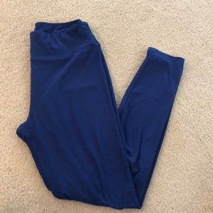 LuLaRoe OS navy leggings